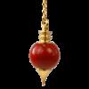pendule jaspe rouge